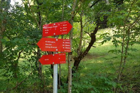 Kriška gora - Gozd, smerne table.jpg